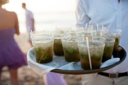 Wedding cocktails on Langosta Beach