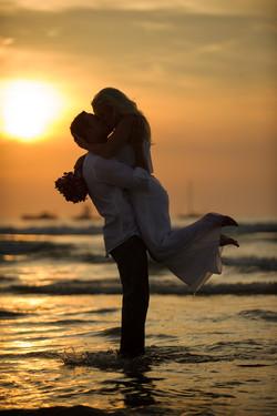 Costa Rica wedding beach photos