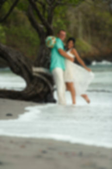 Costa Rica elopement photos at the beach at Sugar Beach. Costa Rica is perfect for family beach elopements!