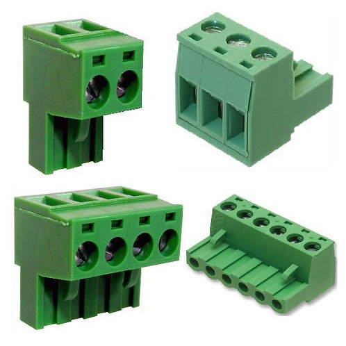 Rising Clamp Pluggable Terminals 5mm Pitch 2,3,4, & 6way