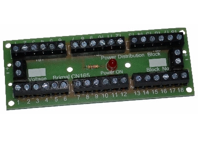 CN165 Power Distribution Board 18 way Screw Terminal Connection