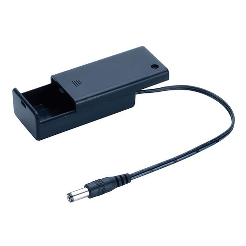 PP3 Battery Box with ON-OFF Switch & 5.5x 2.1 Plug