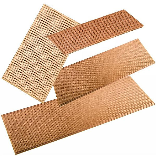 Small Stripboard with 2.54mm spacing various sizes