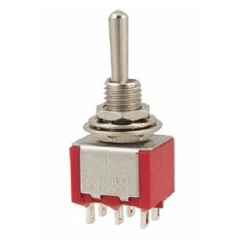 SW310 Mini DPDT Toggle Switch (On) - Off - (On)