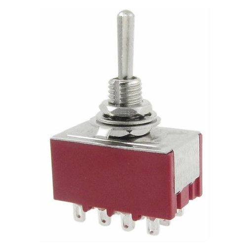 SW321 Mini 4PDT Toggle Switch On - Off - On