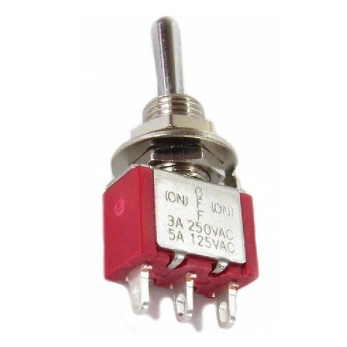 SW301 Mini Toggle Switch (On) - Off - (On)