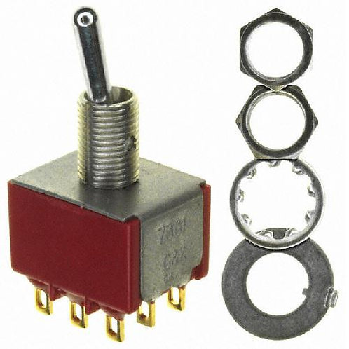 SW318 Mini 3PDT Toggle Switch On - Off or On - On