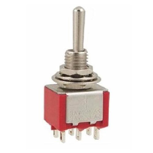 SW311 Mini DPDT Toggle Switch On - Off - (On)