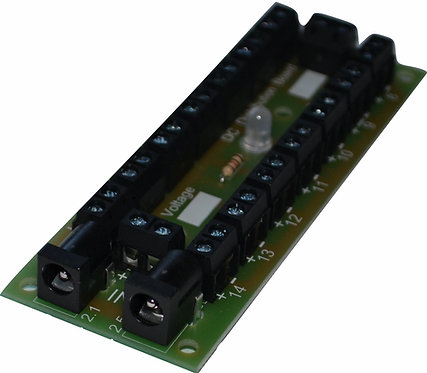 CN166 DC Low Power Distribution Board 14 No 2 way Screw Terminal Connection