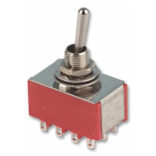 SW320 Mini 4PDT Toggle Switch On - On or On - Off