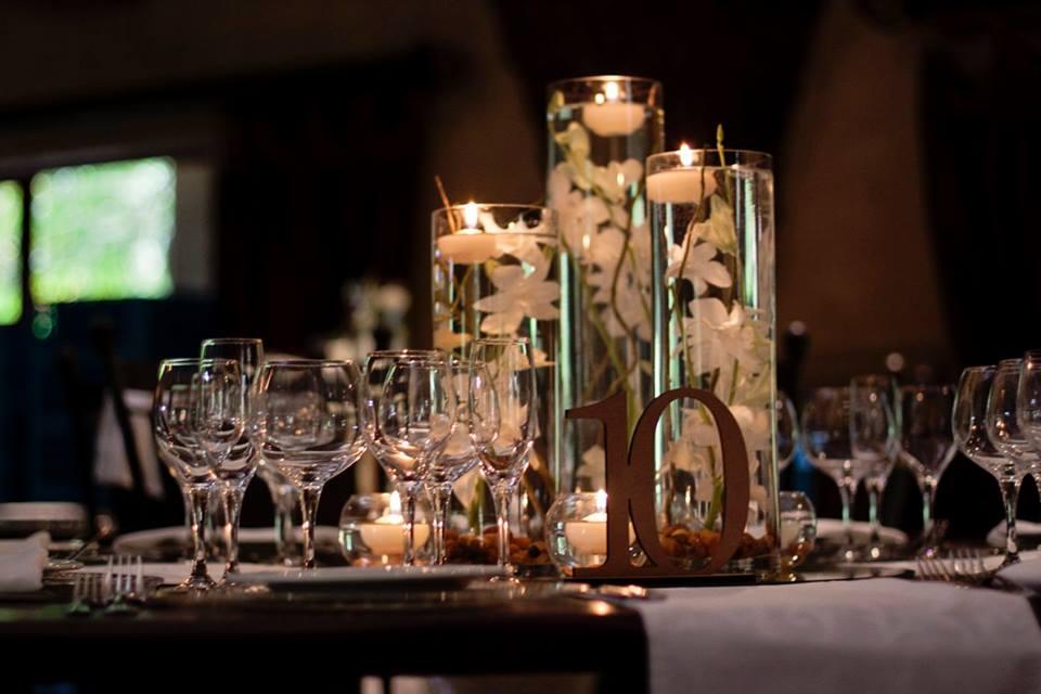 Romantic orchid centerpiece