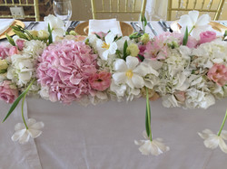 Pretty, pastel centerpiece