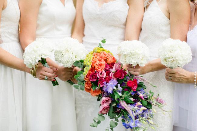 Brides rainbow bouquet