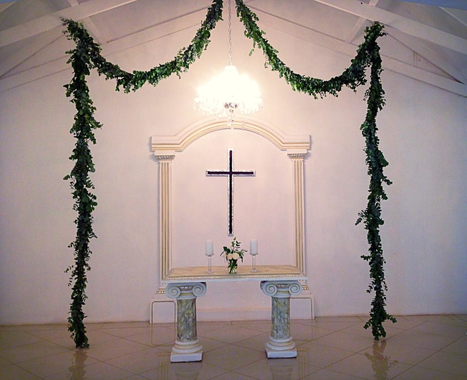 Hanging garland for the chapel