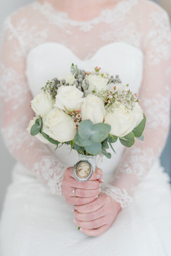 A winter bridal bouquet