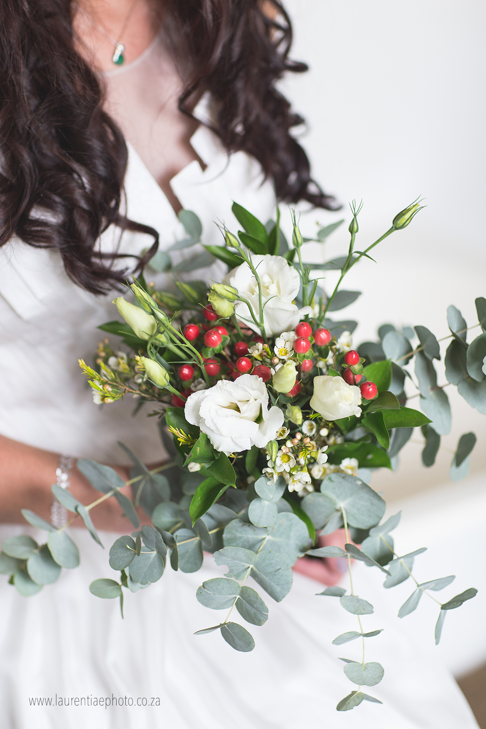 An organic bridal bouquet