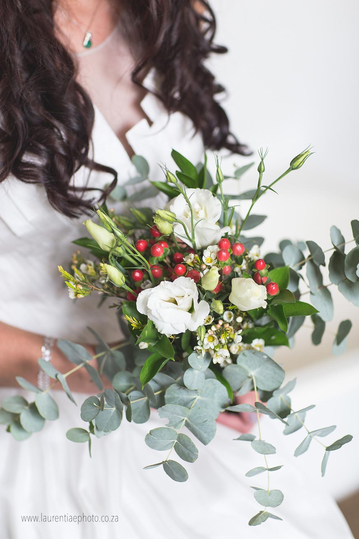 An organic bridal bouquet