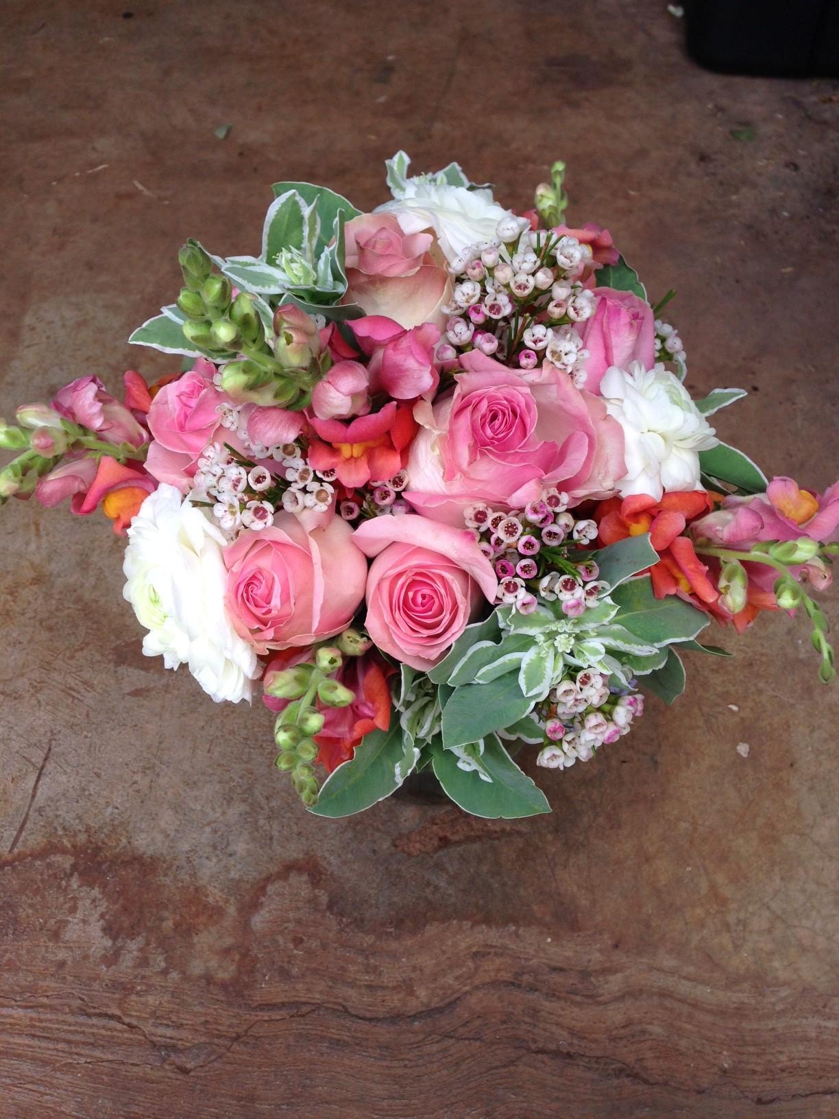 A summer bridal bouquet