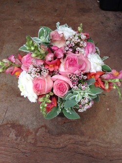 A summer bridal bouquet