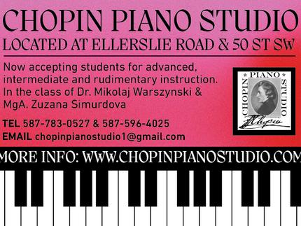Chopin Piano Studio is moving to Ellerslie*