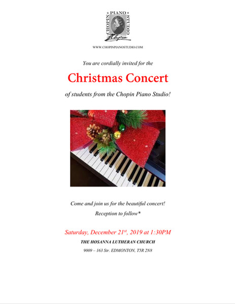 You are invited to our Christmas Concert!