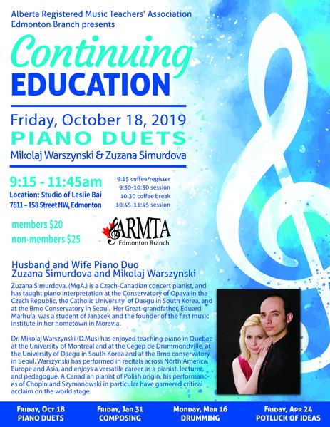 Lecture for ARMTA, Edmonton Branch
