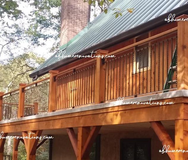 side deck after completion