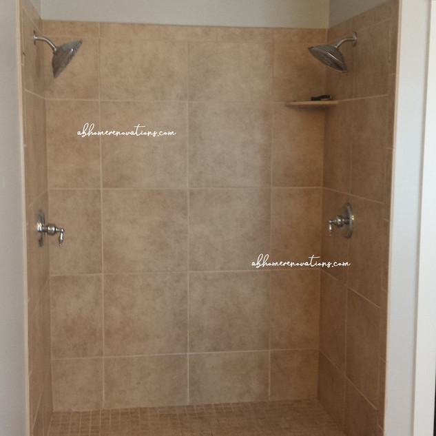 custom shower almost completed