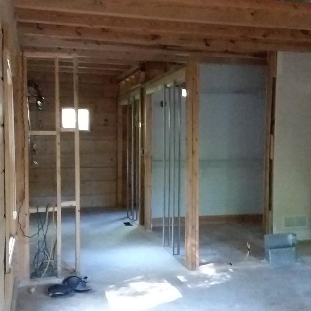 Bathroom remodel under construction.....