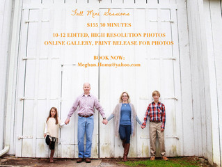 Fall Mini-Sessions!!