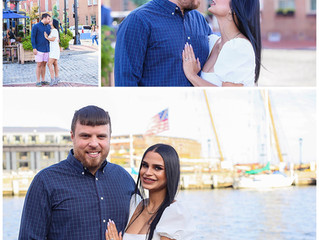 Yexe and Kyle's Engagement Session in Fells Point