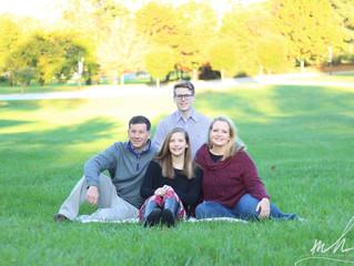 Senior & Family Session at Loyola Blakefield