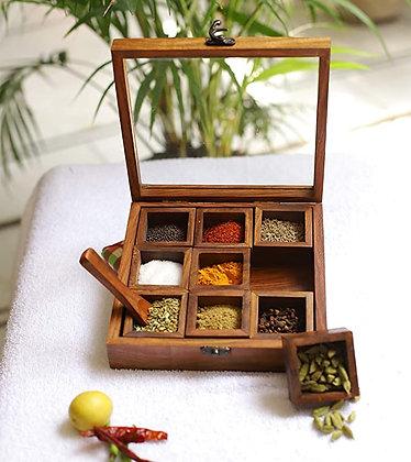 Sheesham Wood Spice Box