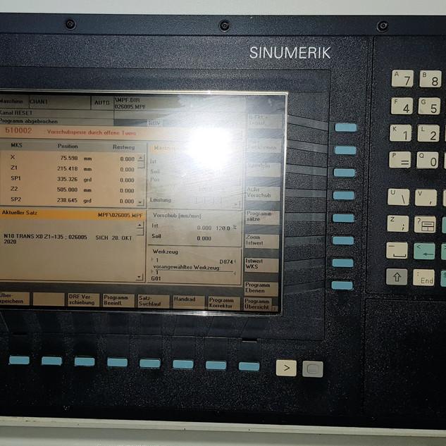 Siemens 840D Steuerung, Benzinger Drehmaschine