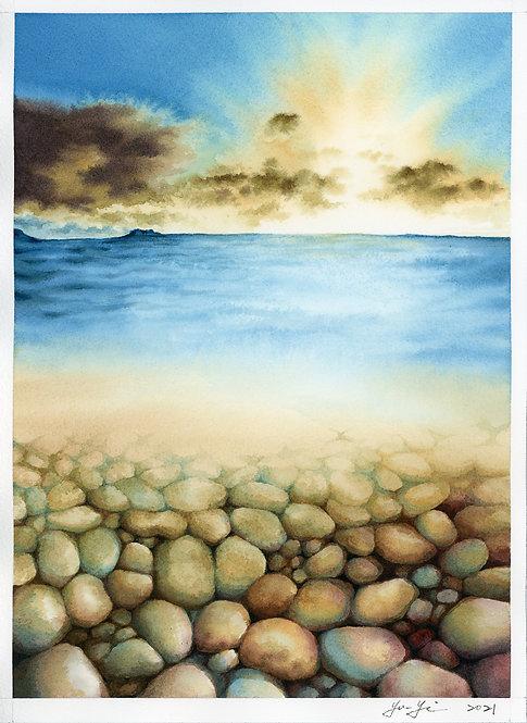 Underwater Stones- Sunrise