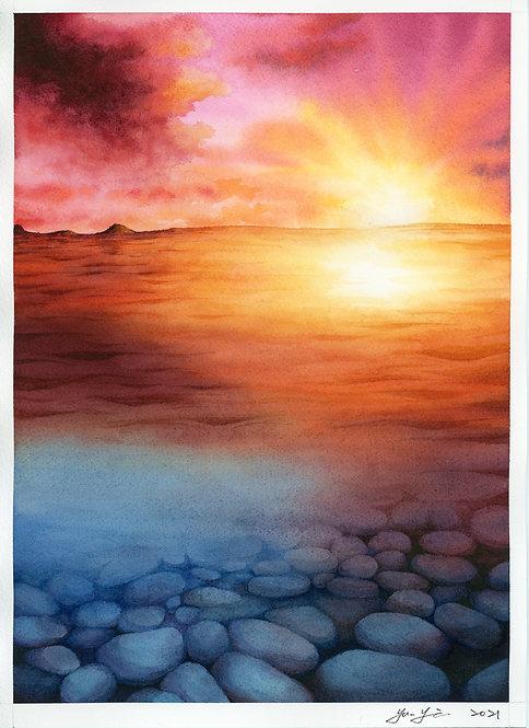 Underwater Stones- Sunset