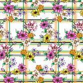 Sketchy Floral w Plaids- YinCreativeStud