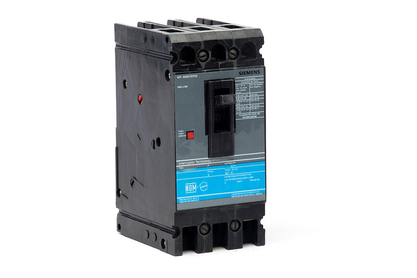 Interruptor Termomagnético HHED6, 40 A, 3P, 220 V marca Siemens.