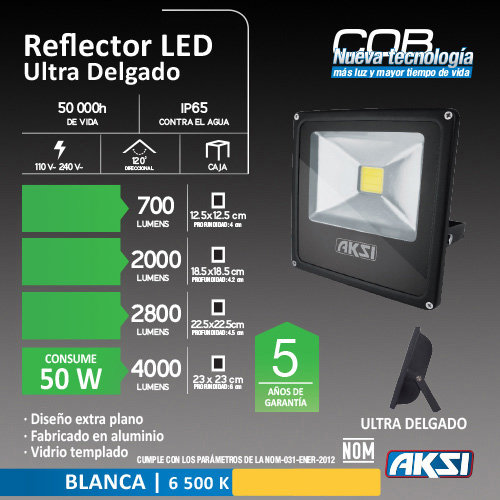 Reflector de LED AKSI 50W
