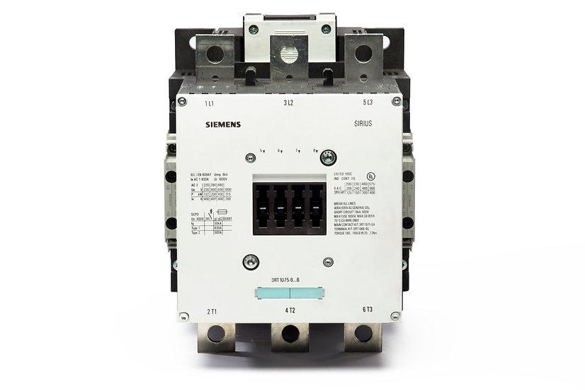 Contactor 3RT1076 Siemens, 175 HP @ 220 V; 300 HP @ 440 V, AC-3: 500 A.