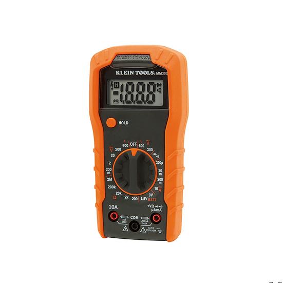 Klein Tools MM300 Multímetro con Selección Manual de Rango de 600 V.