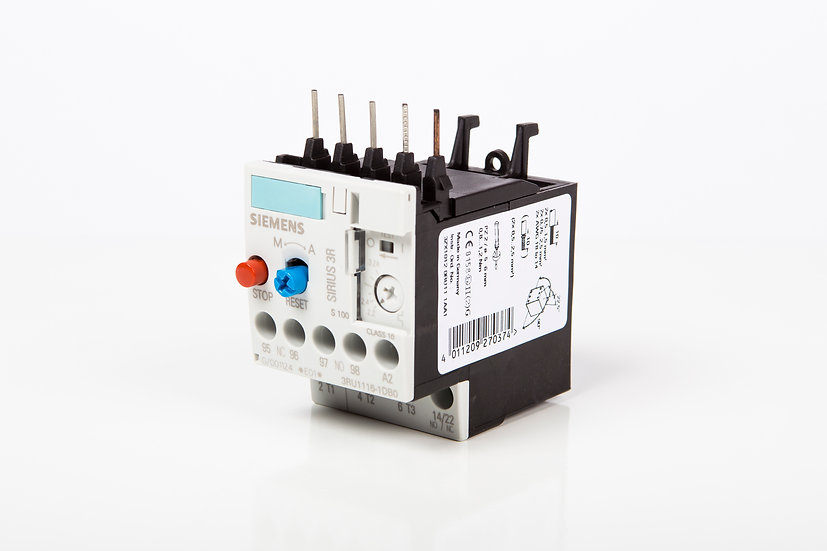 Relevado Bimetálico Siemens 1 HP @ 220 V, 3 HP @ 440 V; 3.5 - 5 A.