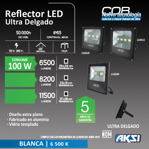Reflector De LED AKSI 100W