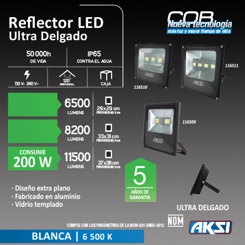 Reflector de LED AKSI 200W