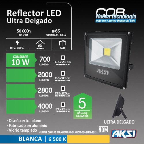 Reflector De LED AKSI 10 W 127 V