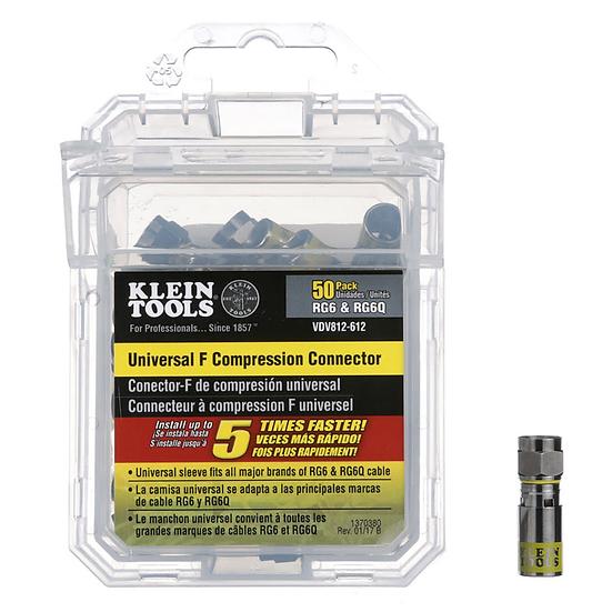 Klein Tools VDV812-612 Conector Compresión Universal F RG6-RG6Q
