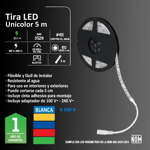 Tira de LED AKSI 16 W Luz Blanca 5 metros