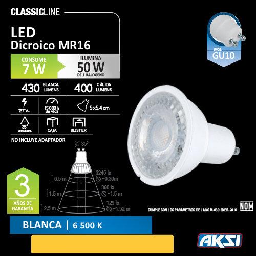Foco AKSI 7 W LED GU10 127 V