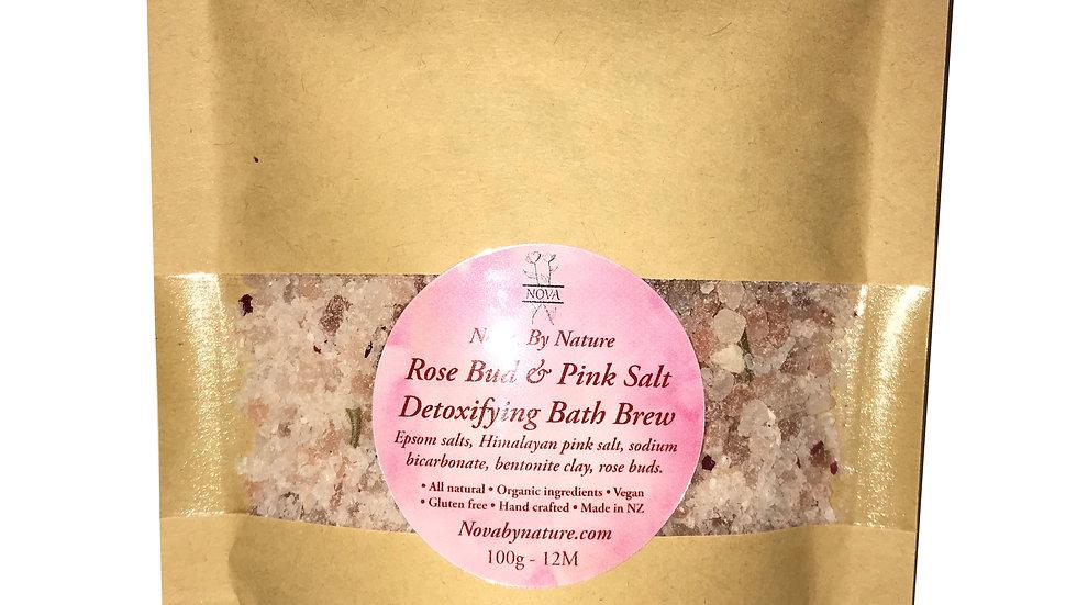 Rose Bud & Pink Salt Detox Bath Brew
