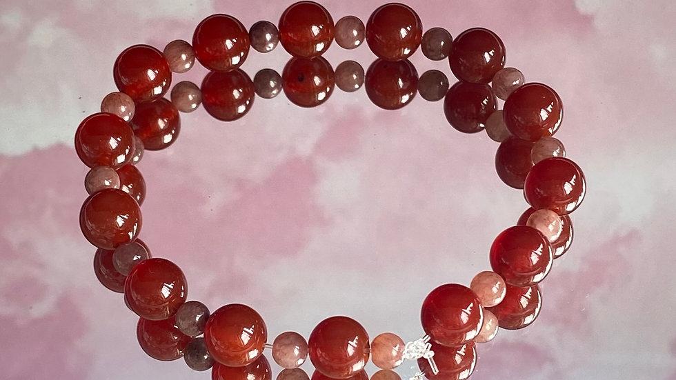 Crimson crystal bracelet - size medium